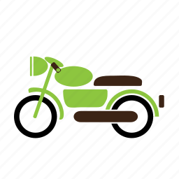 motorcycle, transport, two-seater, two-wheeler, vehicle icon