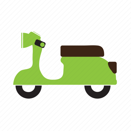 scooter, transport, two-seater, two-wheeler, vehicle icon