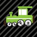 steam engine, train, transport, vintage icon