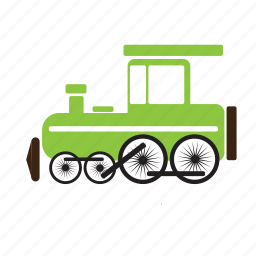 steam engine, train, transport, vintage icon