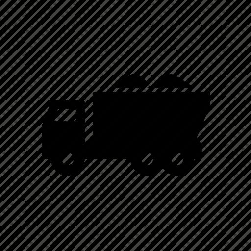 construction, dump, sand, transport, truck, vehicle icon