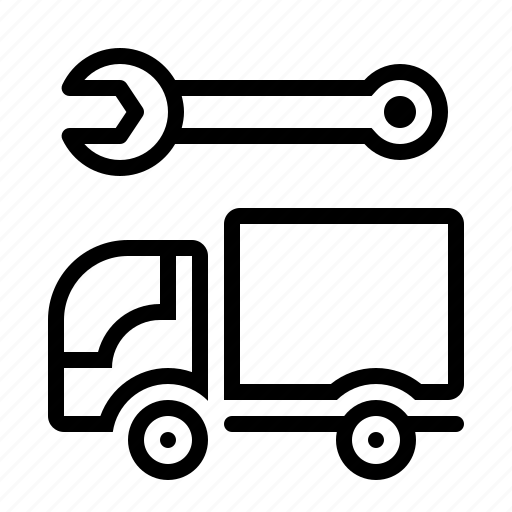 mechanic, repair, truck, vehicle icon