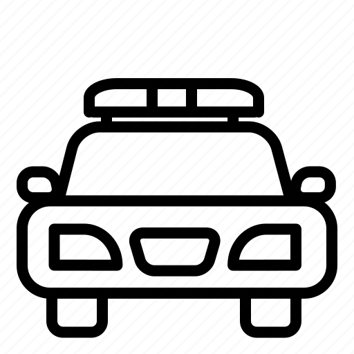 car, police car, secure, vehicle icon