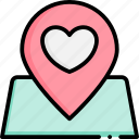 location, love, position, pin, map