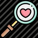 search, love, valentine, heart, romance