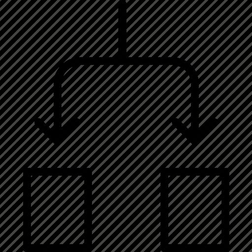 activity, breakdown, chart, distribute, equate, process, subdivide icon