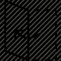 flipside, fold, folding, half, letter, page, paper icon