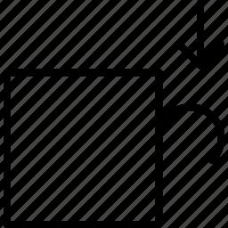 cut, layer, peal, remove, slice, thin icon