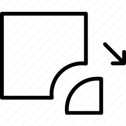 carve, cut, detach, divide, off, remove icon