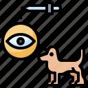 animal, animals, care, clean, dog, eye icon