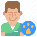 healthcare, male, man, vet, veterinarian, veterinary icon