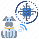 animals, care, chip, dog, microchip, pet icon