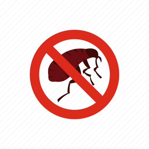 control, flea, insect, no, pest, stop, warning icon