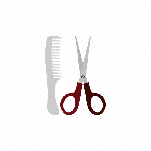 beauty, care, comb, grooming, haircutting, hairdresser, scissors icon