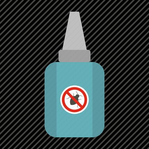 bite, bottle, disease, flea, insect, parasite, pest icon