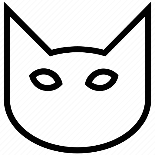 animal, cat, cat face, feline, mammal, pets, superstitious icon