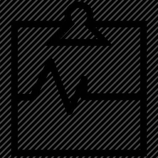 clipboard, heartbeat, pulse, pulse clipboard icon