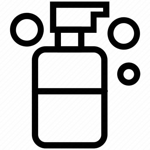 foam, foam bottle, hair foam, spray bottle icon