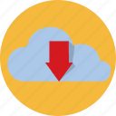 cloud, download, forecast, online, rain, weather, web icon