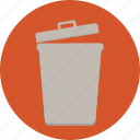 bin, delete, dispose, garbage, recycle, trash, web icon