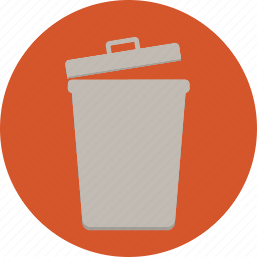 bin, delete, dispose, garbage, recycle, trash, web icon