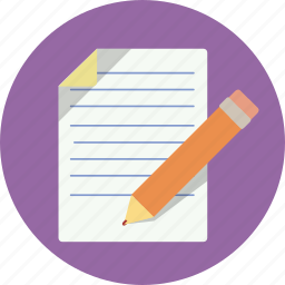 letter, note, pad, paper, pencil, web, writing icon