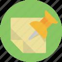 bulletin, pin, web, location, map, marker
