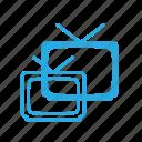 old, retro, television, tv, vintage icon