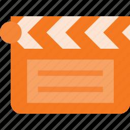 clapper, clip, closed, cut, movie icon