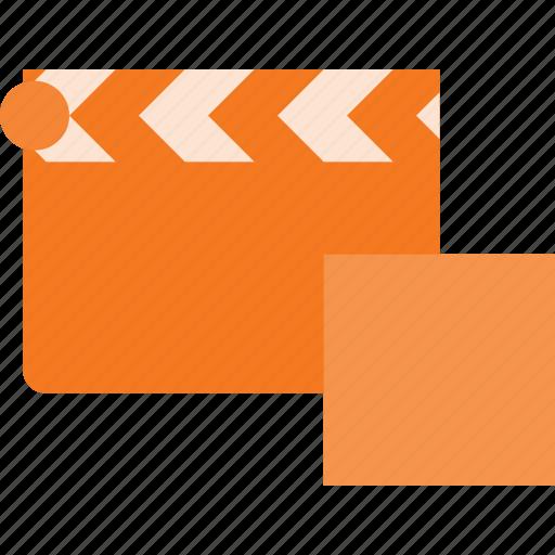 clapper, clip, cut, movie, stop icon