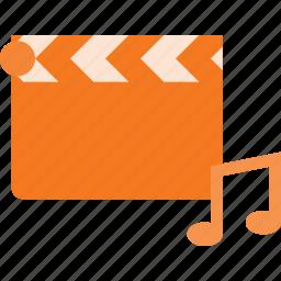 clapper, clip, music, video, videoclip icon