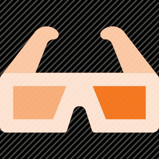 cinema, film, glasses, movie, treedimension icon