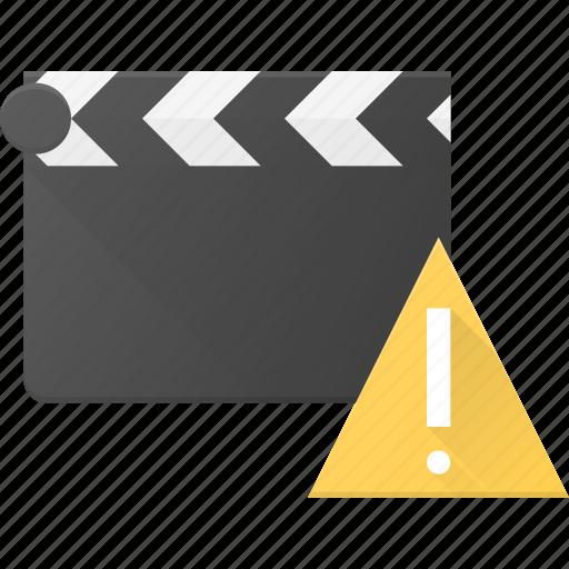 attention, clapper, clip, cut, movie icon