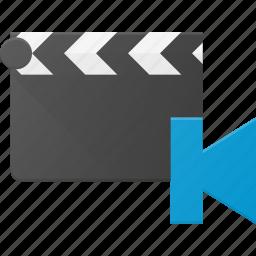 begining, clapper, clip, cut, movie icon
