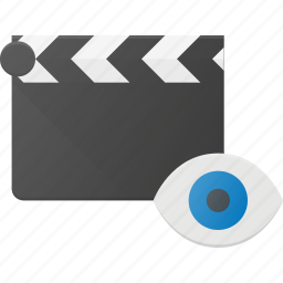 clapper, clip, cut, movie, view icon