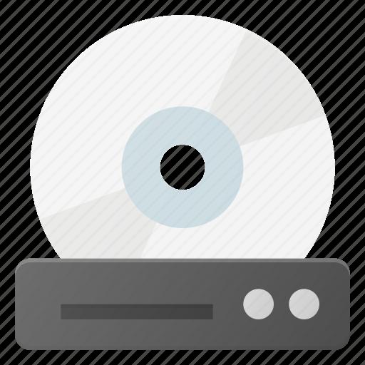 device, disc, dvd, film, movie, player icon