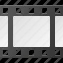 clip, film, media, movie, strip icon