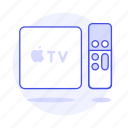 3, apple, control, devices, digital, media, player, remote, streaming, tv, video icon
