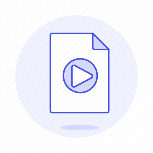 button, files, format, media, play, video icon