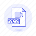 camera, files, format, video, wmv icon