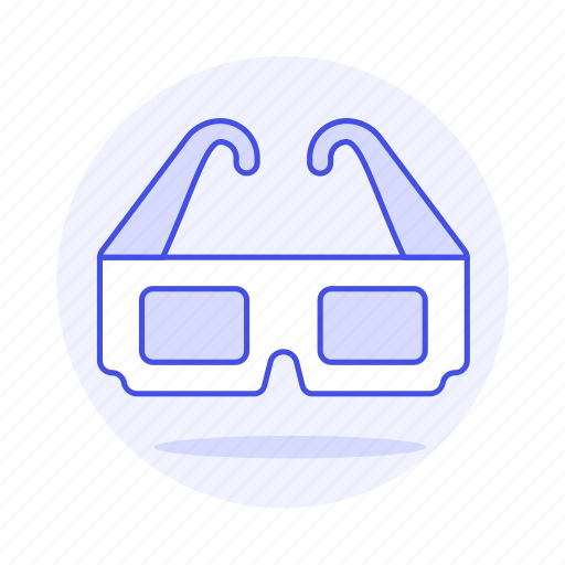 3d, blue, cinema, glasses, movies, red, theater, video icon