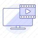 app, media, modern, movie, music, smart, television, tv, video, widescreen icon