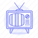 crt, fashioned, no, old, retro, signal, television, tv, video, vintage icon