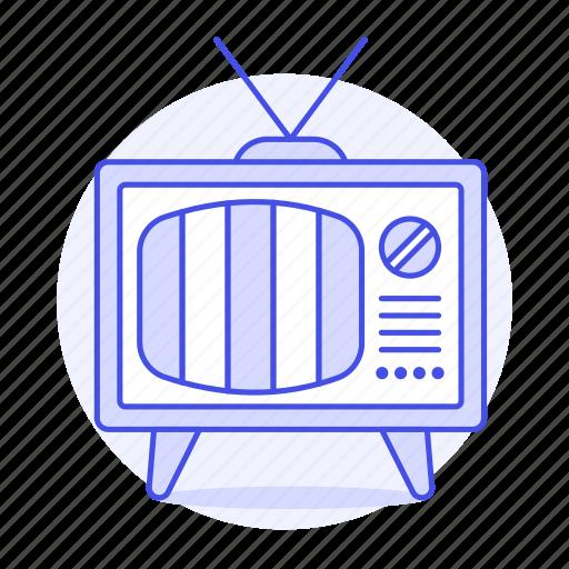crt, fashioned, no, old, retro, signal, television, tv, video, vintage icon