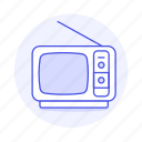 2, crt, fashioned, old, retro, television, tv, video, vintage icon