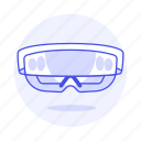 3, ar, augmented, camera, glasses, reality, smart, video icon