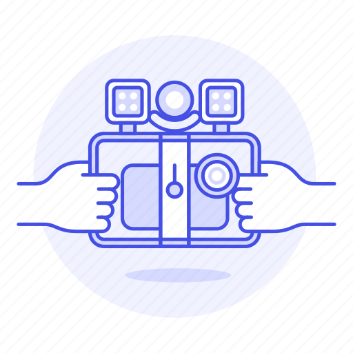 1, camera, lens, light, microphone, mobile, phone, rig, smartphone, video icon