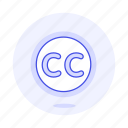 cc, commons, creative, editing, video icon