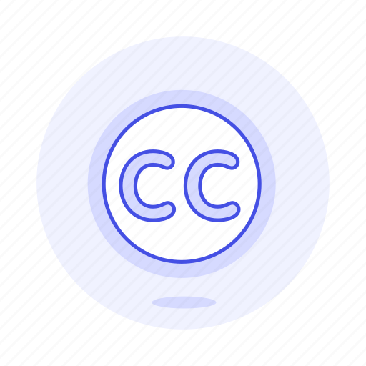 cc, commons, creative, editing, video icon