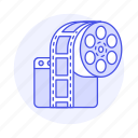 app, film, media, movie, player, roll, video icon
